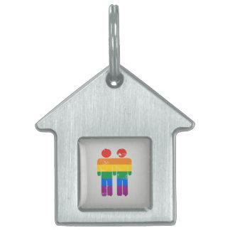 GAY LOVE AND PRIDE PET NAME TAG