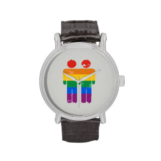 GAY LOVE AND PRIDE - .png Wrist Watches