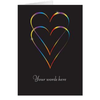 Gay love greeting card