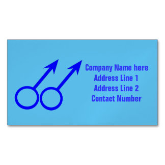 Gay Lovers Personalized Business Card Magnets