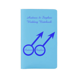 Gay Lovers Personalized Wedding Notebook Cover