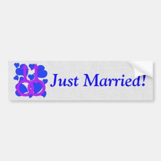 Gay Male Marriage Hearts Bumper Sticker