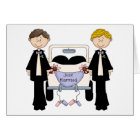 Gay Male Wedding Just Married Tees and Gifts Card