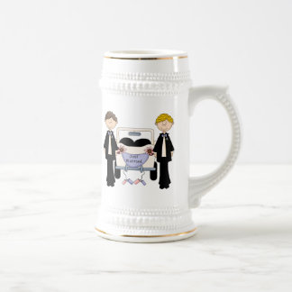Gay Male Wedding Just Married Tees and Gifts Beer Steins