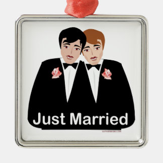 Gay Marriage Groom Christmas Ornament