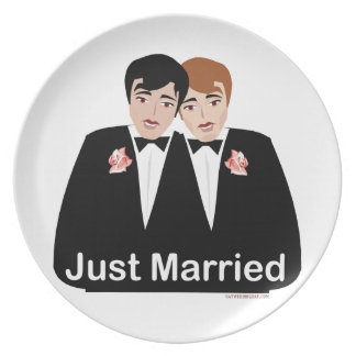 Gay Marriage Groom Plate