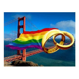 Gay Marriage San Francisco Postcard