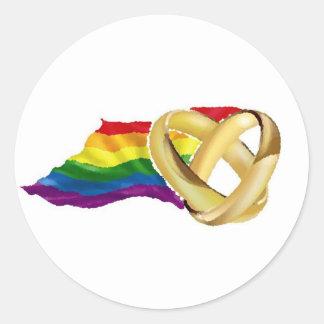 Gay Marriage Round Sticker