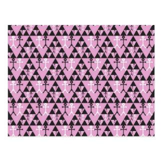 Gay Men Icon pattern Postcard