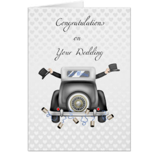 Gay Men, Just Married Congratulations Greeting Card