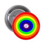 Gay Men Round Rainbow Button