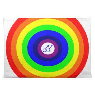 Gay Men Round Rainbow Placemat