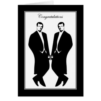 Gay Men Wedding Congratulations Commitment Male Greeting Card
