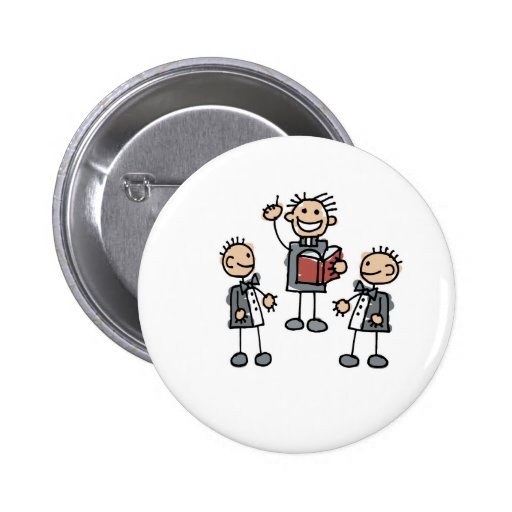 Gay Men with Preacher 6 Cm Round Badge