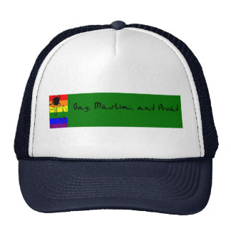 Gay, Muslim and Proud Mesh Hats