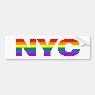 Gay NYC bumpersticker Bumper Sticker