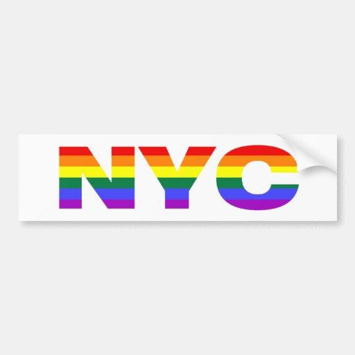 Gay NYC bumpersticker Bumper Stickers
