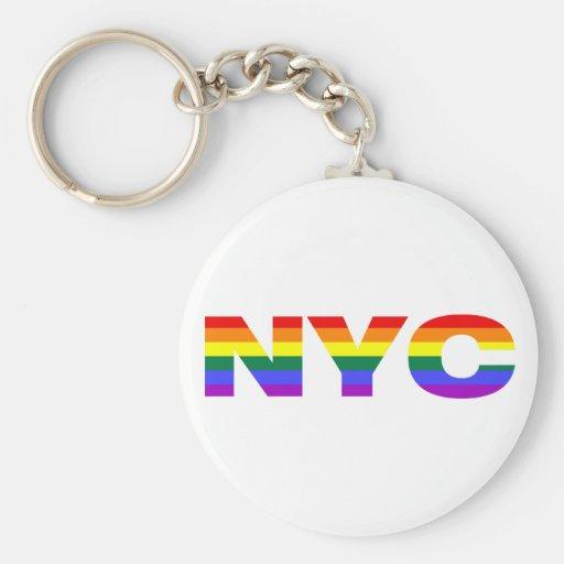 Gay NYC keychain