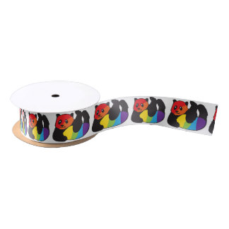 Gay Panda LGBT Rainbow Pride Satin Ribbon