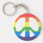 gay peace keychains