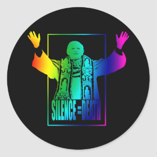 Gay Pope Round Sticker