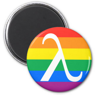 Gay Pride and Activism Flag 6 Cm Round Magnet