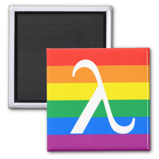 Gay Pride and Activism Flag Square Magnet