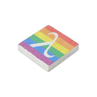Gay Pride and Activism Flag Stone Magnet