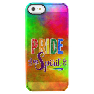 Gay Pride and Spirit Bold Rainbow Typography Clear iPhone SE/5/5s Case