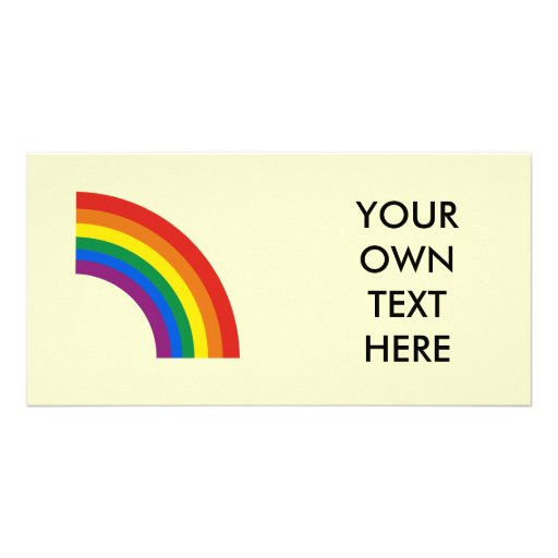 Gay Pride Arc Rainbow Personalized Photo Card