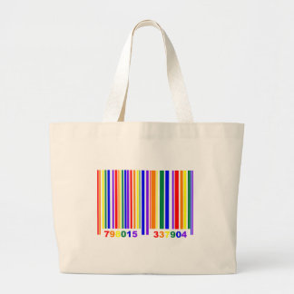 Gay Pride Barcode Canvas Bags