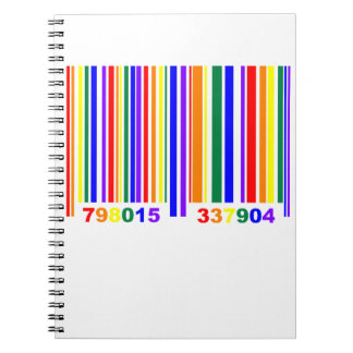 Gay Pride Barcode Notebook