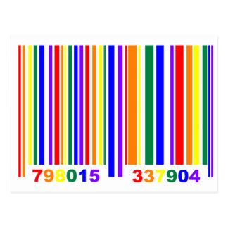 Gay Pride Barcode Post Card