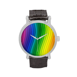 GAY PRIDE BARS VERTICAL -.png Wrist Watches