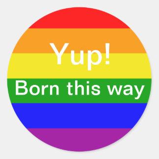 Gay Pride Born this way Rainbow flag Stickers