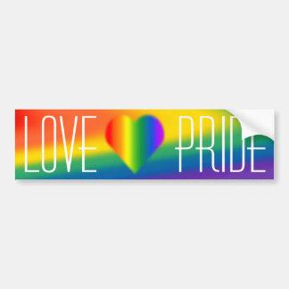Gay Pride Bumper Sticker Rainbow Love Stickers