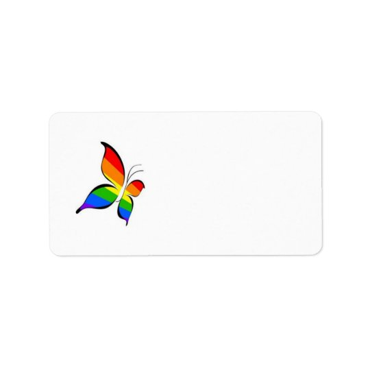 gay pride butterfly address label
