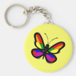 Gay Pride Butterfly Keychain
