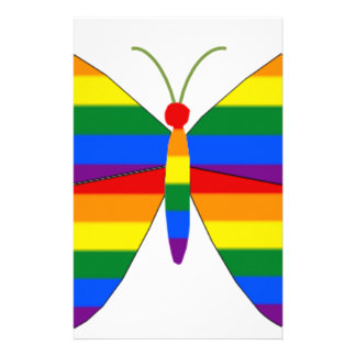 Gay Pride Butterfly Stationery Paper