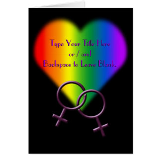 Gay Pride Cards Personalized Rainbow Love Cards