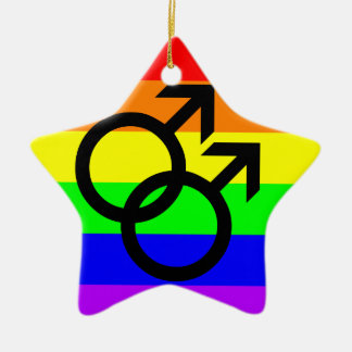 Gay Pride Christmas Ornament