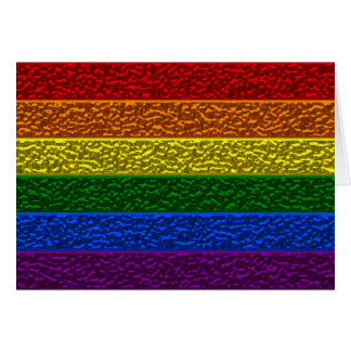 Gay Pride Chrome Flag Greeting Card