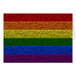 Gay Pride Chrome Flag Greeting Card