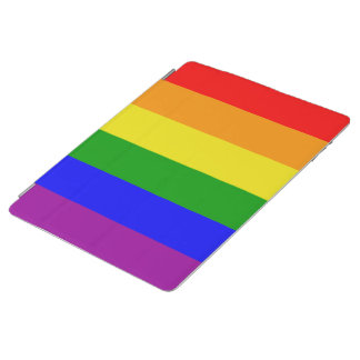 Gay Pride Classic and Elegant Rainbow flag iPad Cover