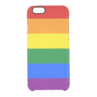 Gay Pride Clear iPhone Case