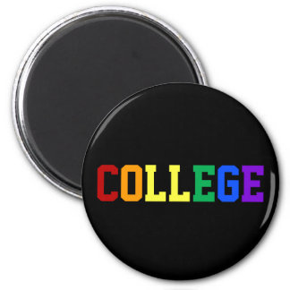Gay Pride College Rainbow Magnet