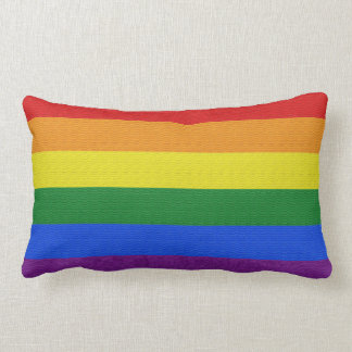 Gay pride color  Lumbar Pillow