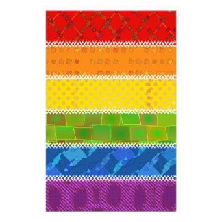 Gay Pride Colors Stationery Paper