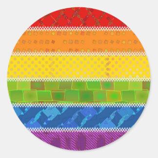 Gay Pride Colors Round Sticker