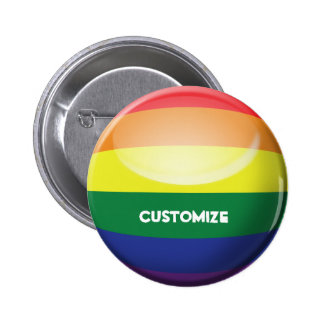 Gay Pride Customise Button